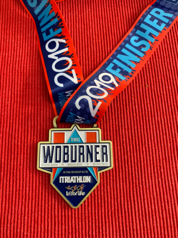 Woburn Triathlon 2019 Finisher Medal