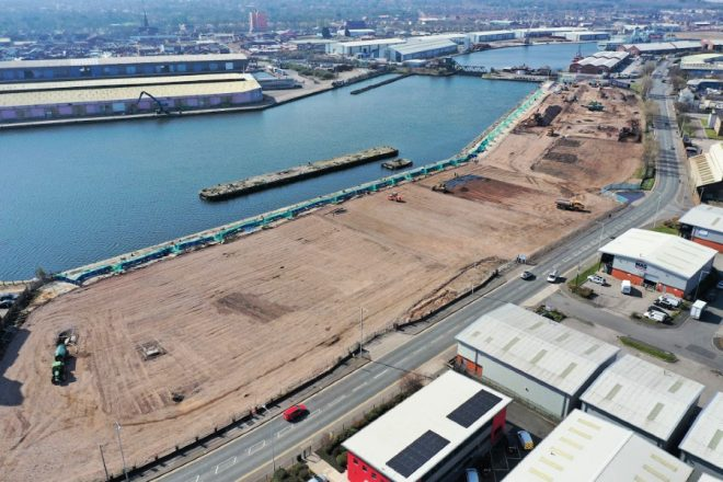 Wirral Waters Regeneration Program, Aerial Drone shots 2